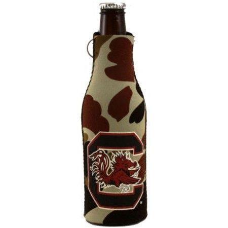 South Carolina Gamecocks Camo Bottle Suit Cooler