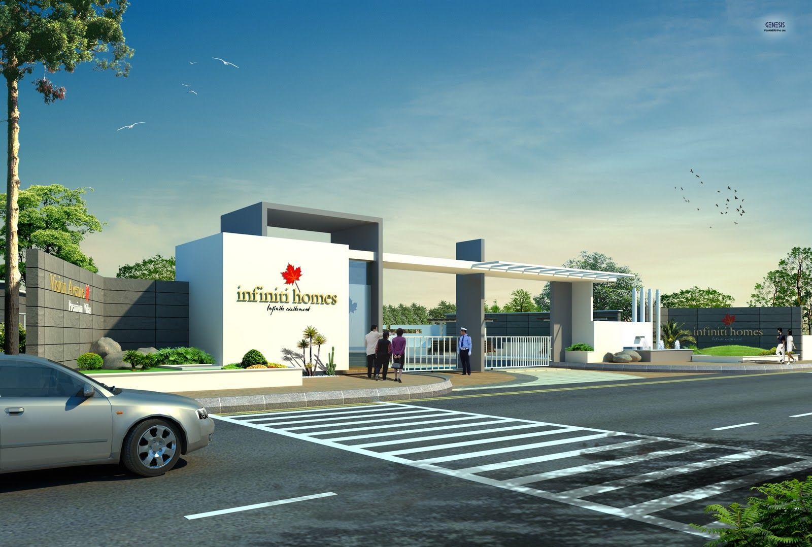 Apartment Gate Design With Entrance Main Avani Greens