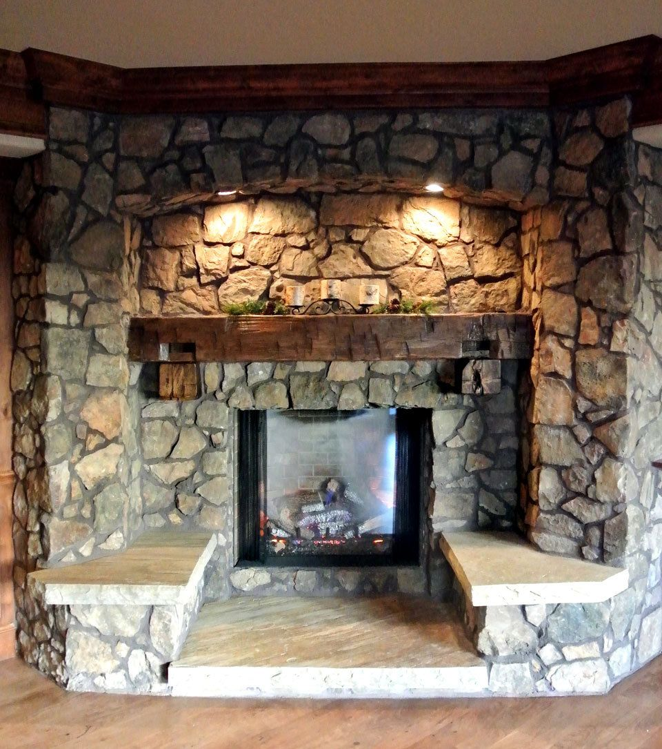 Best 25 rustic fireplaces ideas on pinterest rustic mantle rustic fireplace mantels and - Beautiful stone fireplaces that rock ...