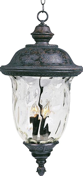 Carriage House Vx 3 Light Outdoor Pendants Chandeliers Oriental Bronze