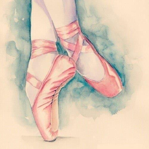 Water Color Ballet Shoes                                                       …