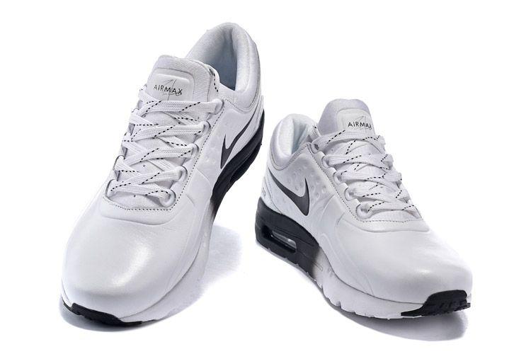 new arrival 74fec 1de6c Men s UK Nike Air Max Zero QS Leather Shoes White Black 789695-021 Trainers  UK Sale