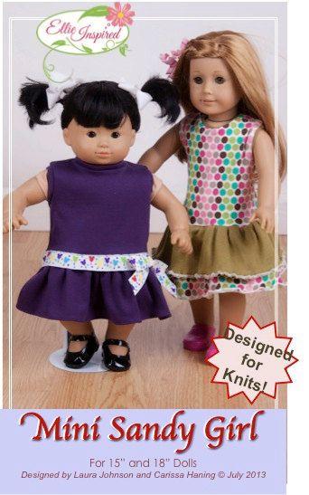 136bb713fb2 Doll knit dress pattern - Mini Sandy Girl PDF pattern - 15
