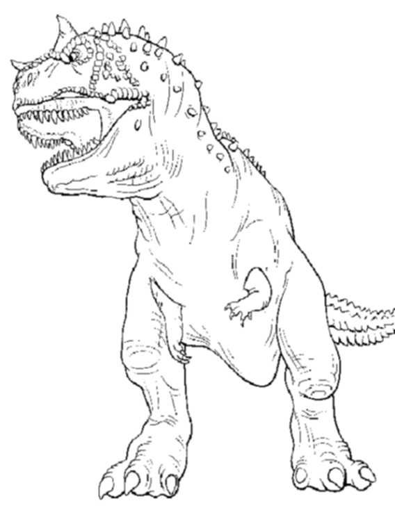 Trex Coloring Pages For Kids