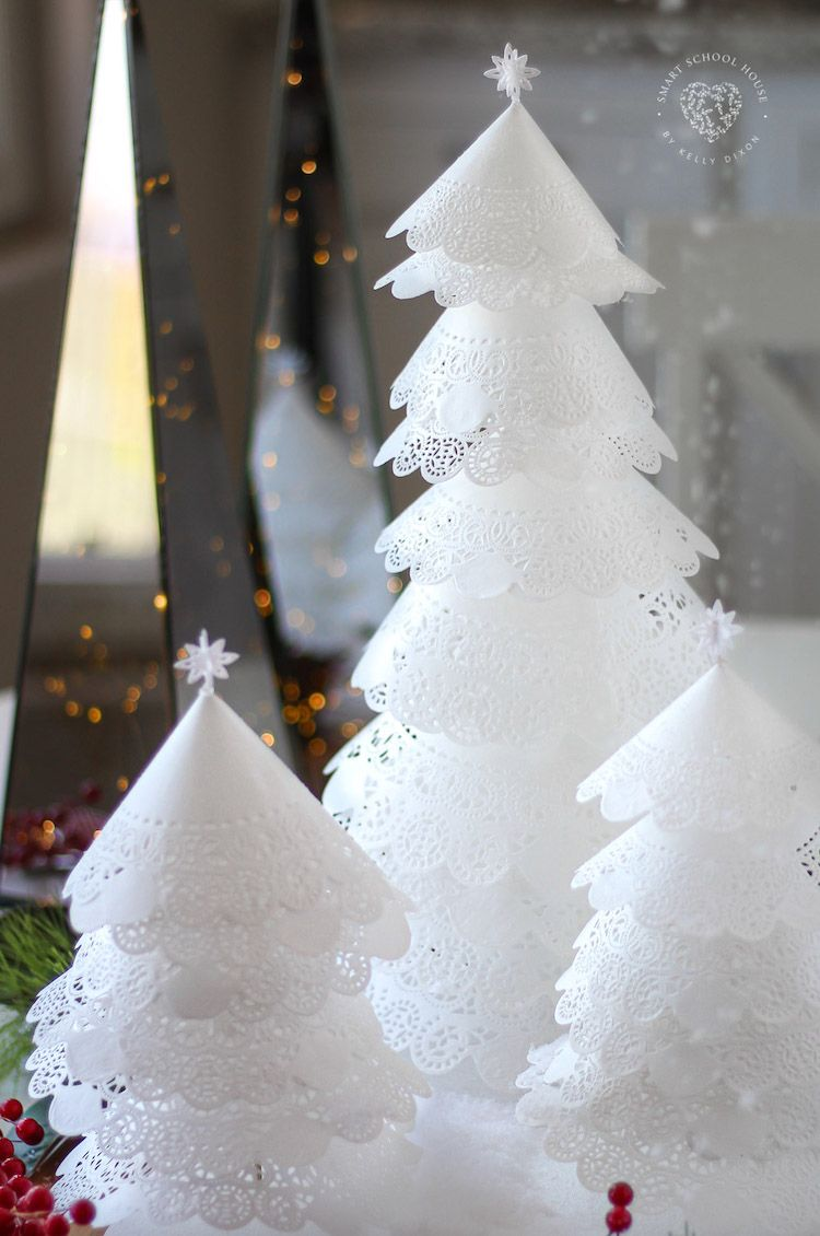 How to make Christmas Trees from Doilies funny
