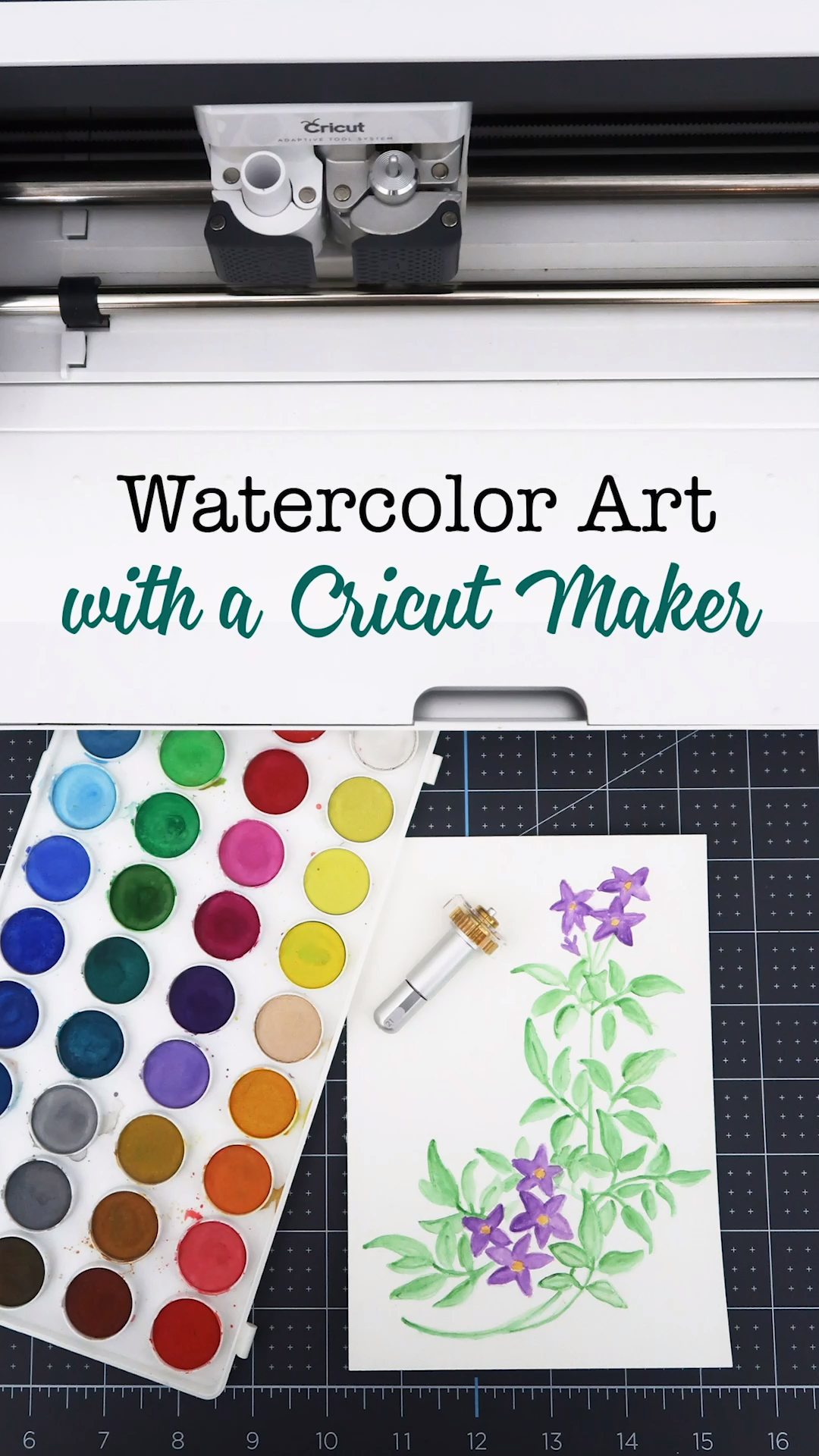 DIY Watercolor Art with a Cricut Maker
