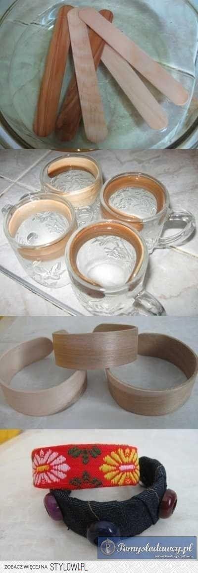 Bent Wood Bracelets Soak Popsicle Sticks In Vinegar To Make Bent Wood Bracelets Gioielleria Fai Da Te Idee Per Regali Accessori Fai Da Te