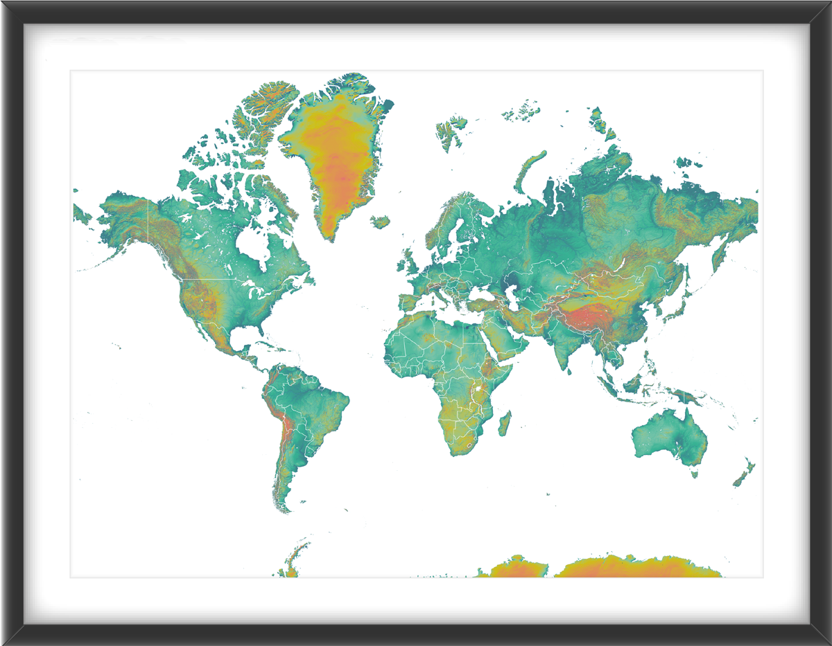 World map print with country boundaries this landscape map features world map print with country boundaries this landscape map features colour changes that represent different gumiabroncs Images