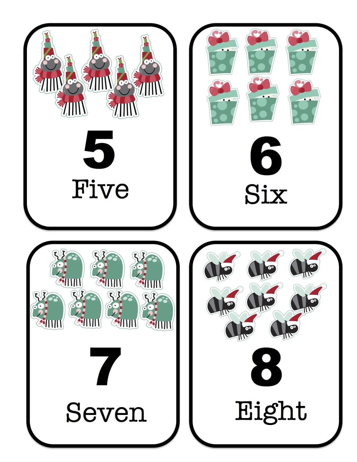 Large Printable Number Cards 1 20