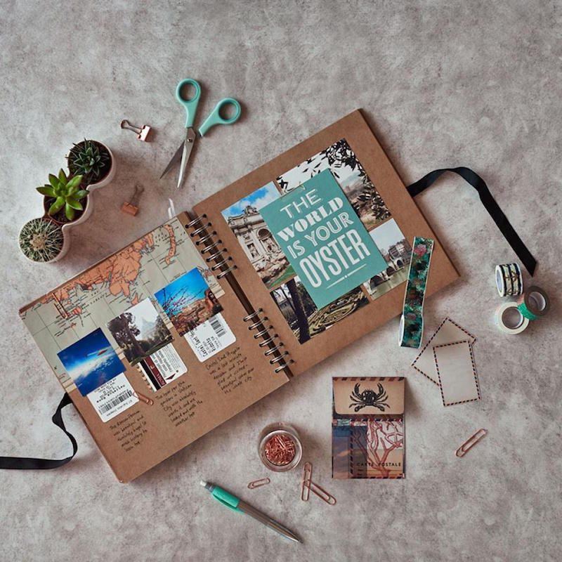 comment faire un carnet de voyage et pr server ses m moires pr cieuses scrapbooking pinterest. Black Bedroom Furniture Sets. Home Design Ideas