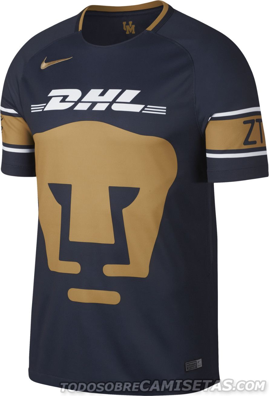Camisetas Nike de Pumas 2017-18  8d5cd0381673a