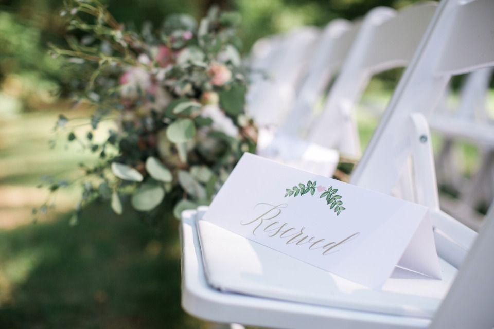 reserved wedding ceremony seats