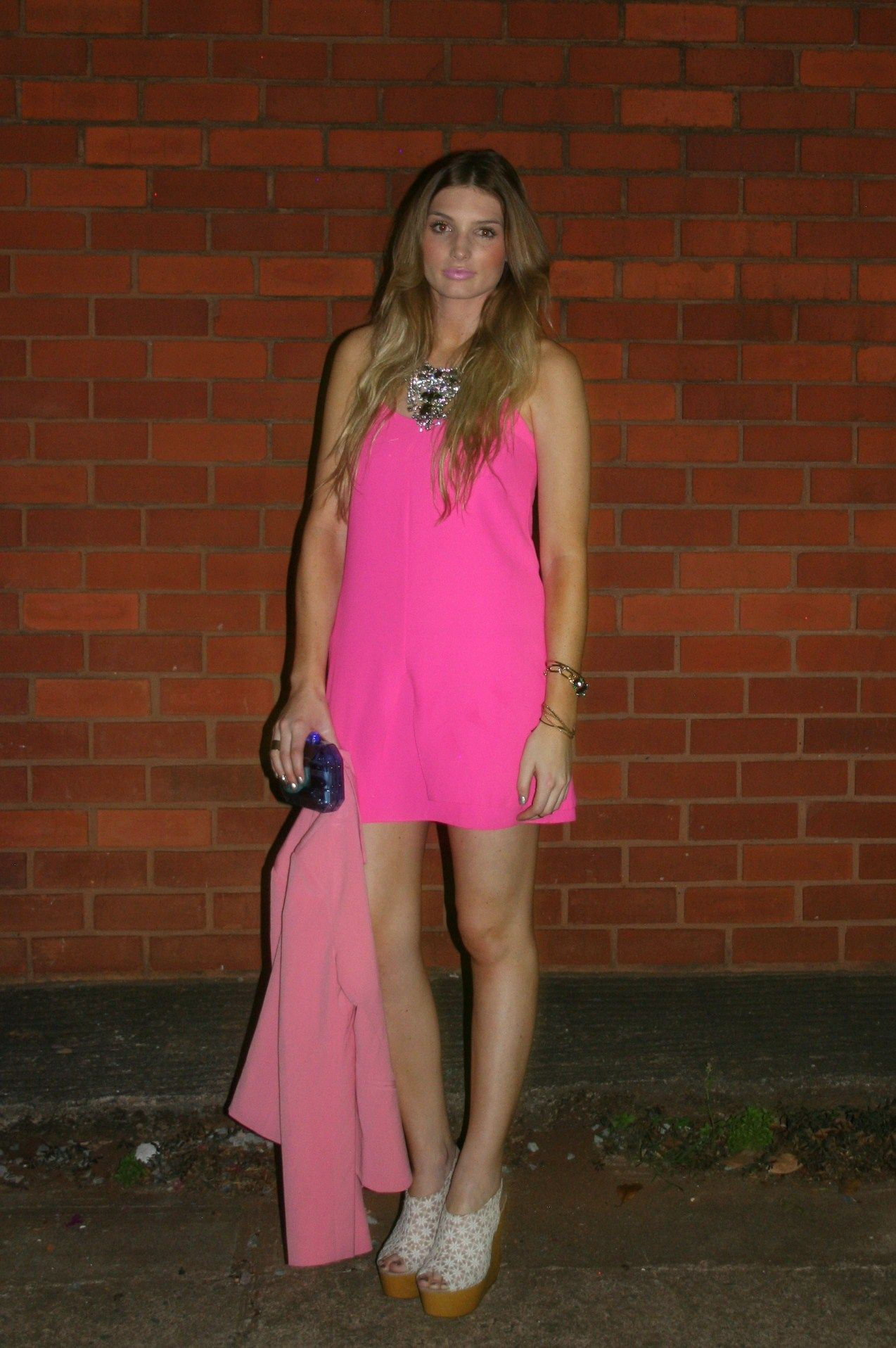 What I wore to the DUT Fashion Show - Topshop Slip Dress, Call It Spring Wedges, Zara Perspex Clutch- My beautiful friend Tash.