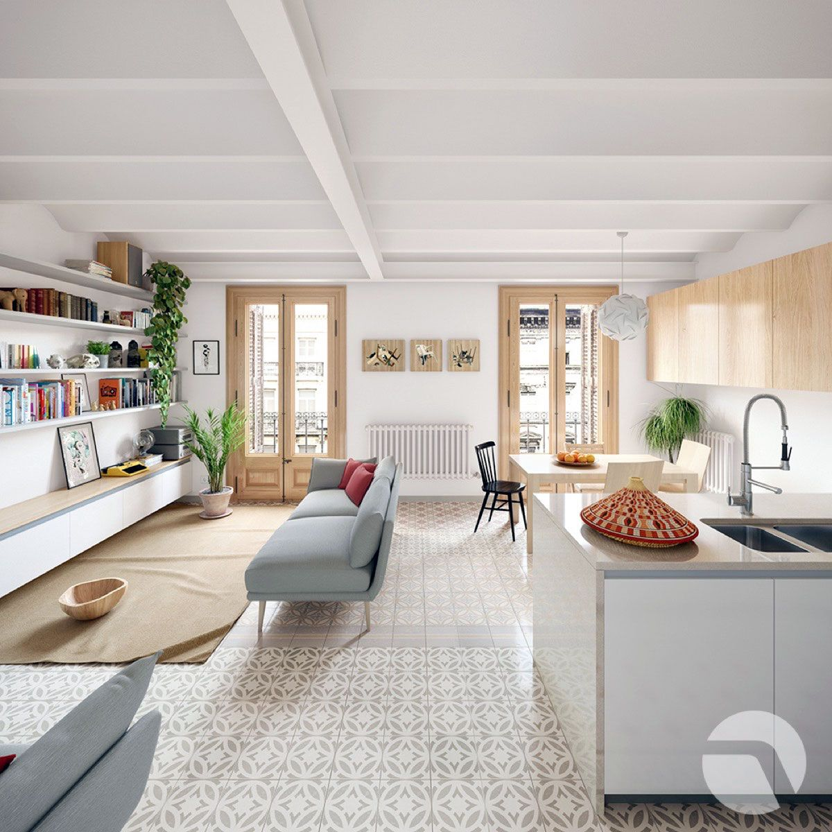 20 Adorable Scandinavian Kitchen Curtains Ideas In 2020 Townhouse Interior Modern Townhouse Interior Interior Design