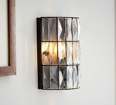Adeline Crystal Sconce Set Of 48 Fancy Franklin Reno Pinterest Cool Bathroom Light Sconces