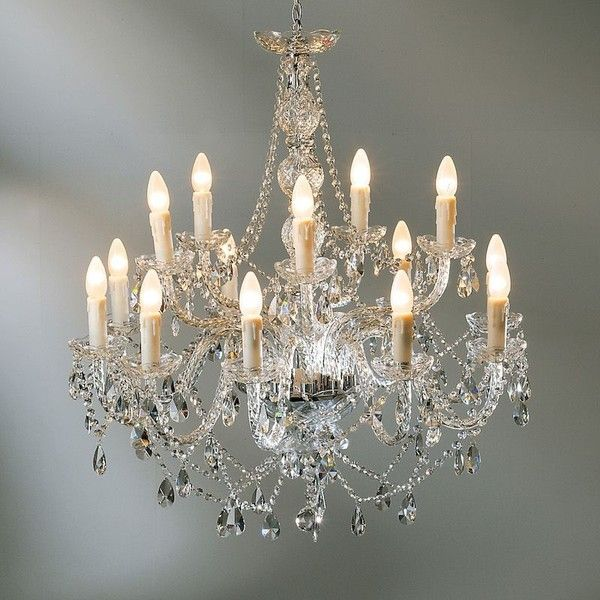 Mariah 14 Arm Clear Glass Chandelier 895 Liked On Polyvore