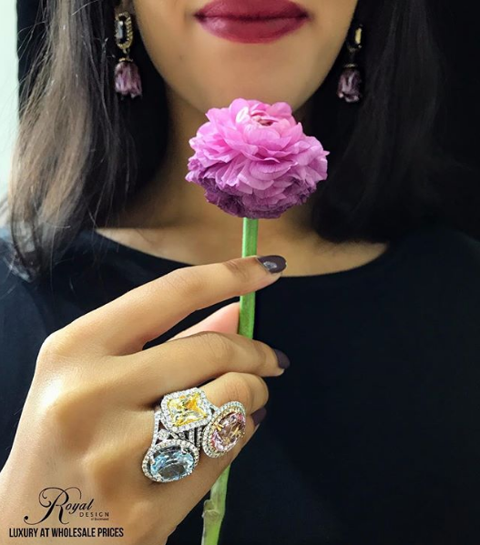 On Gloomy Days We Accessorize With Color Diamonds Jewelry Love Wedding Bride Groom Bridal Engagementr Diamond Earrings Studs Jewelry Jewelry Stores