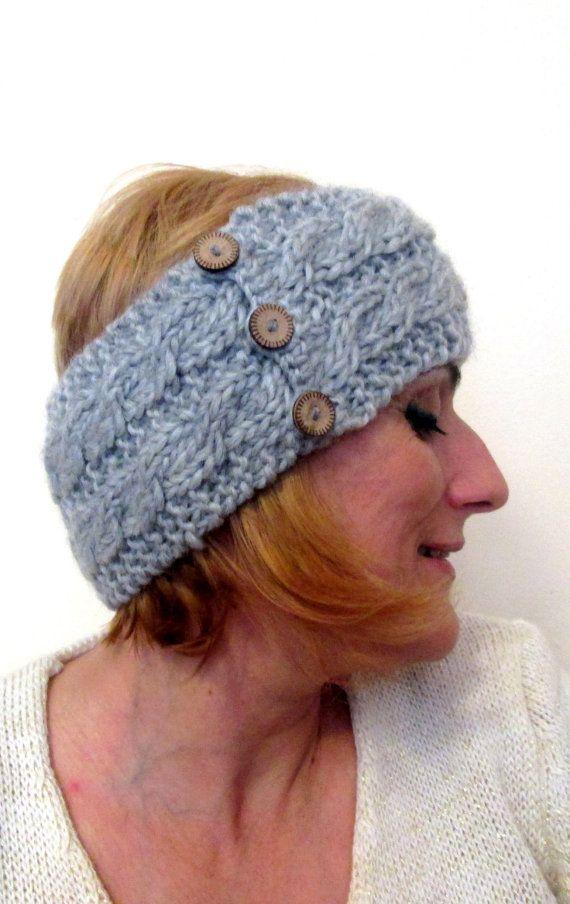 Knitted Chunky Headband chunky Collar chunky Ear Warmer Head Warmer ...