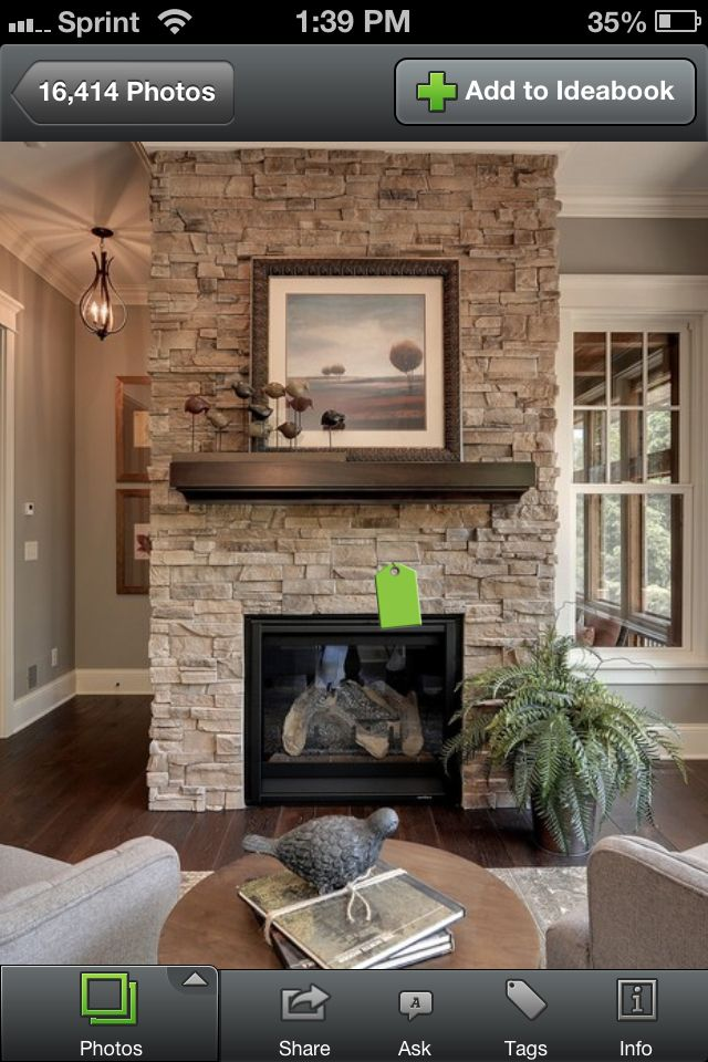 Foyer Et Plan Focal : Fireplace stone option sessions home details