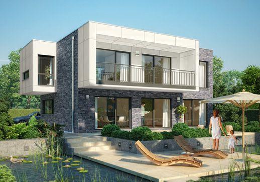 bauhaus-stil - kubus modell 1 - ein fertighaus von - gussek haus, Hause deko