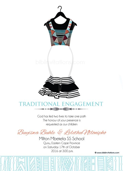 sithandiwe xhosa traditional wedding invitation xhosa With xhosa traditional wedding invitations