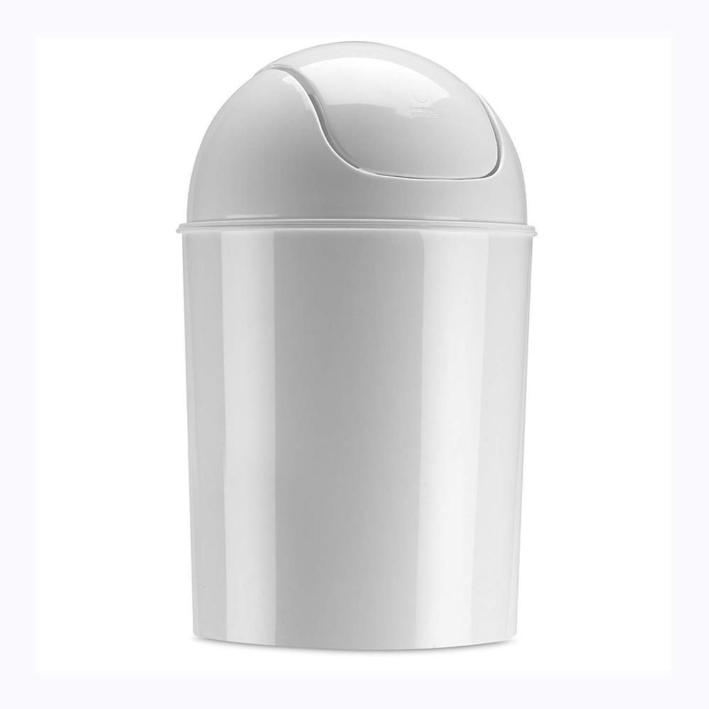 Small White Trash Can With Lid Garbage Can Garbage Can Ideas Garbage Can Garbagecan Mini