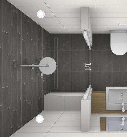 Deze inloopdouche is een mooie oplossing voor een douche in de ...