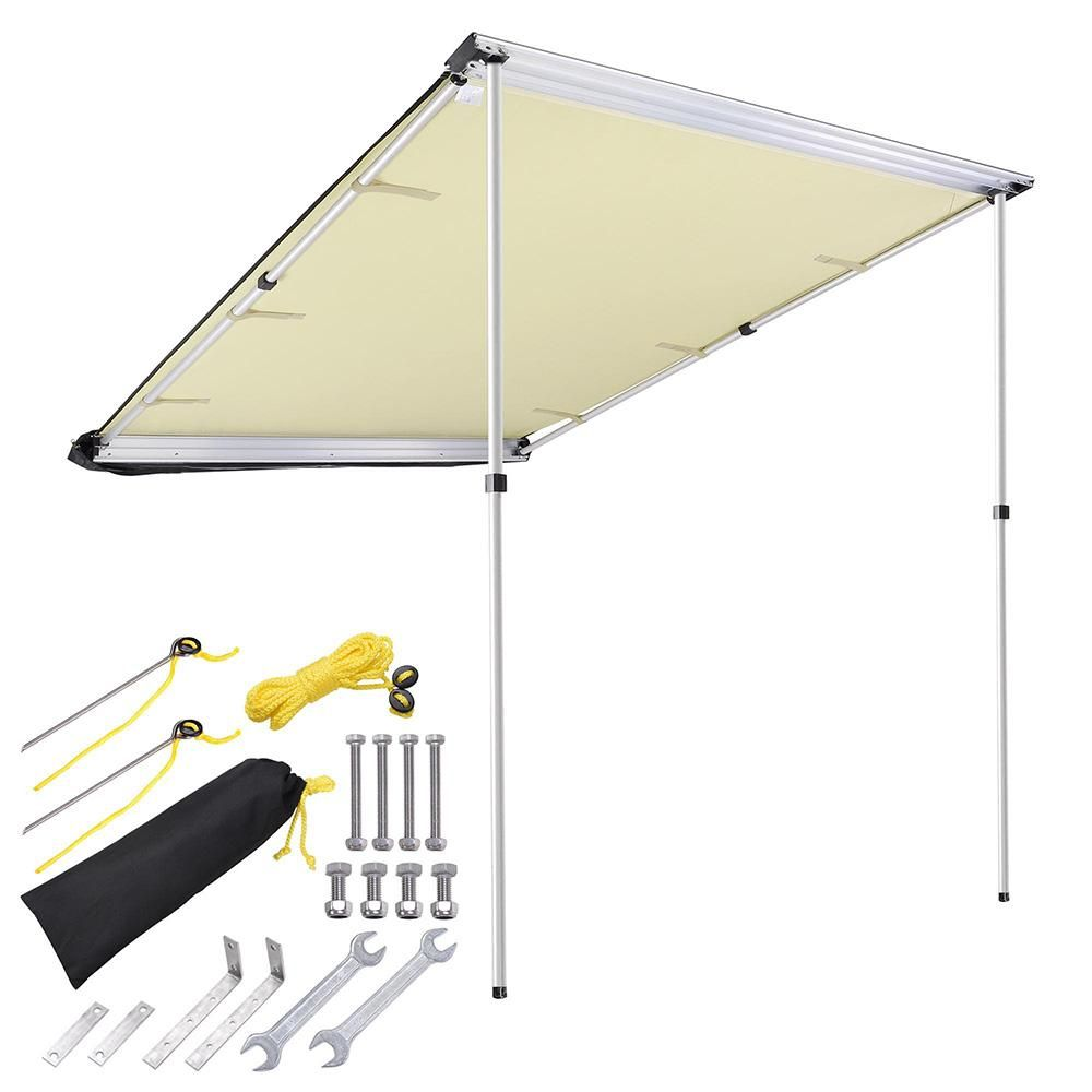 Thediyoutlet 4 7 X6 7 Retracted Car Rooftop Side Awning Shade Awning Shade Tent Awning Patio Awning