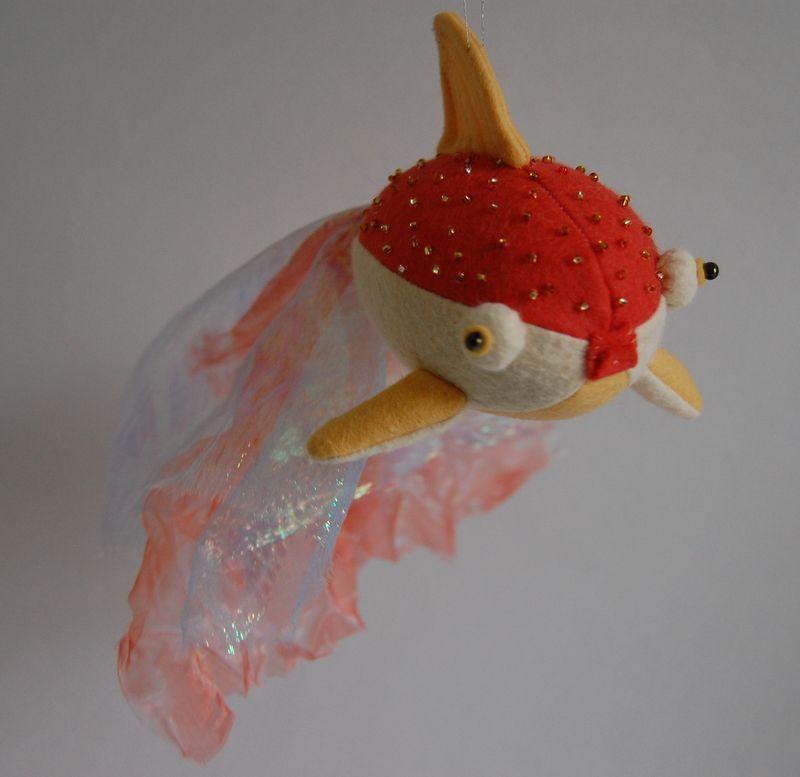 Free Felt Goldfish Pattern   Kuscheltiere, Filz und Muster