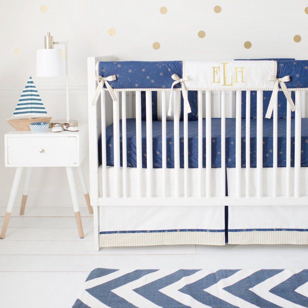 Lucky Stars In Navy Crib Baby Bedding Set Baby Boy Bedding Baby Bed Baby Bedding Sets