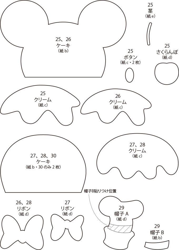 ミッキーやドナルドたちの手作りカップケーキカードの作り方(ディズニー