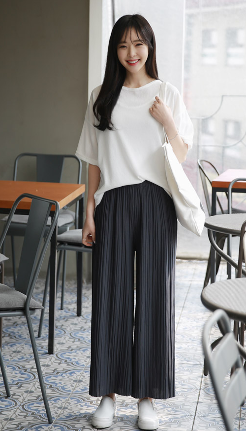 6ca0709a993 ENVYLOOK  WIDE PLEATED PANTS