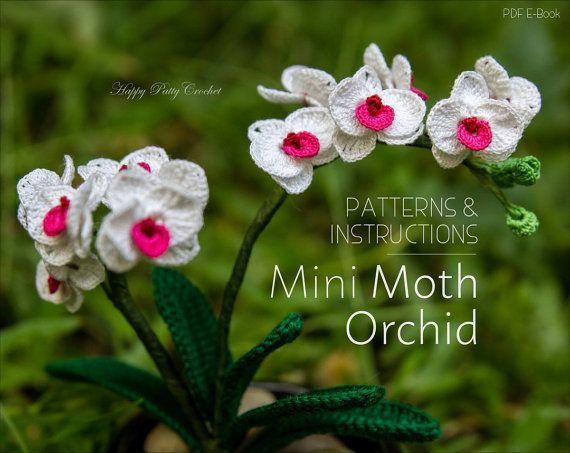 Small Orchid Flower Pattern - Crochet Flower Pattern - Crochet ...