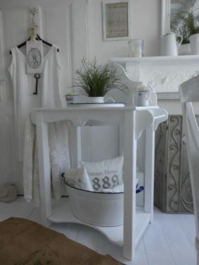 shabby chic alt antike waschtisch holz emailie. Black Bedroom Furniture Sets. Home Design Ideas
