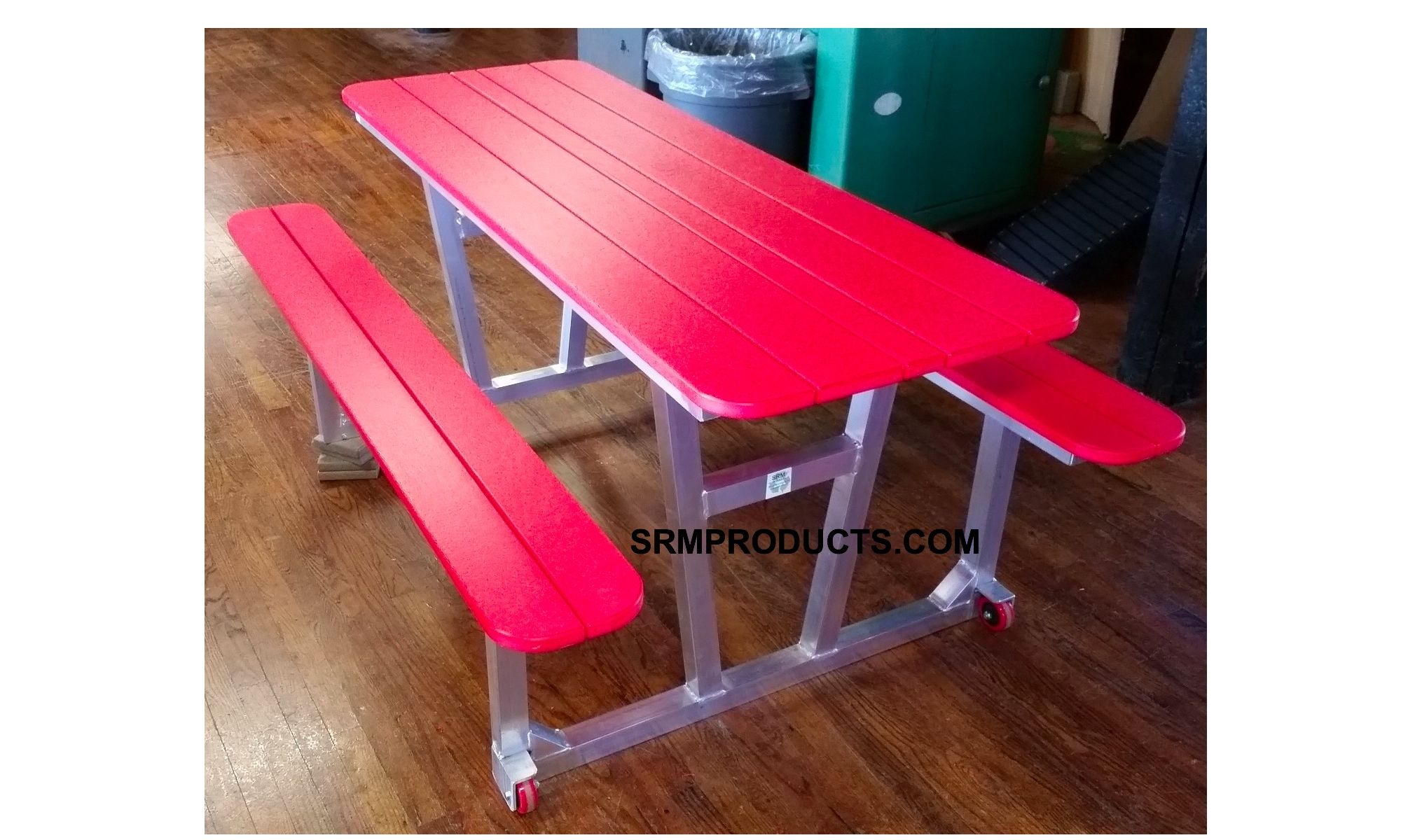 Custom Made Polywood Trex Picnic Table With An Aluminum Frame Wheels A Product