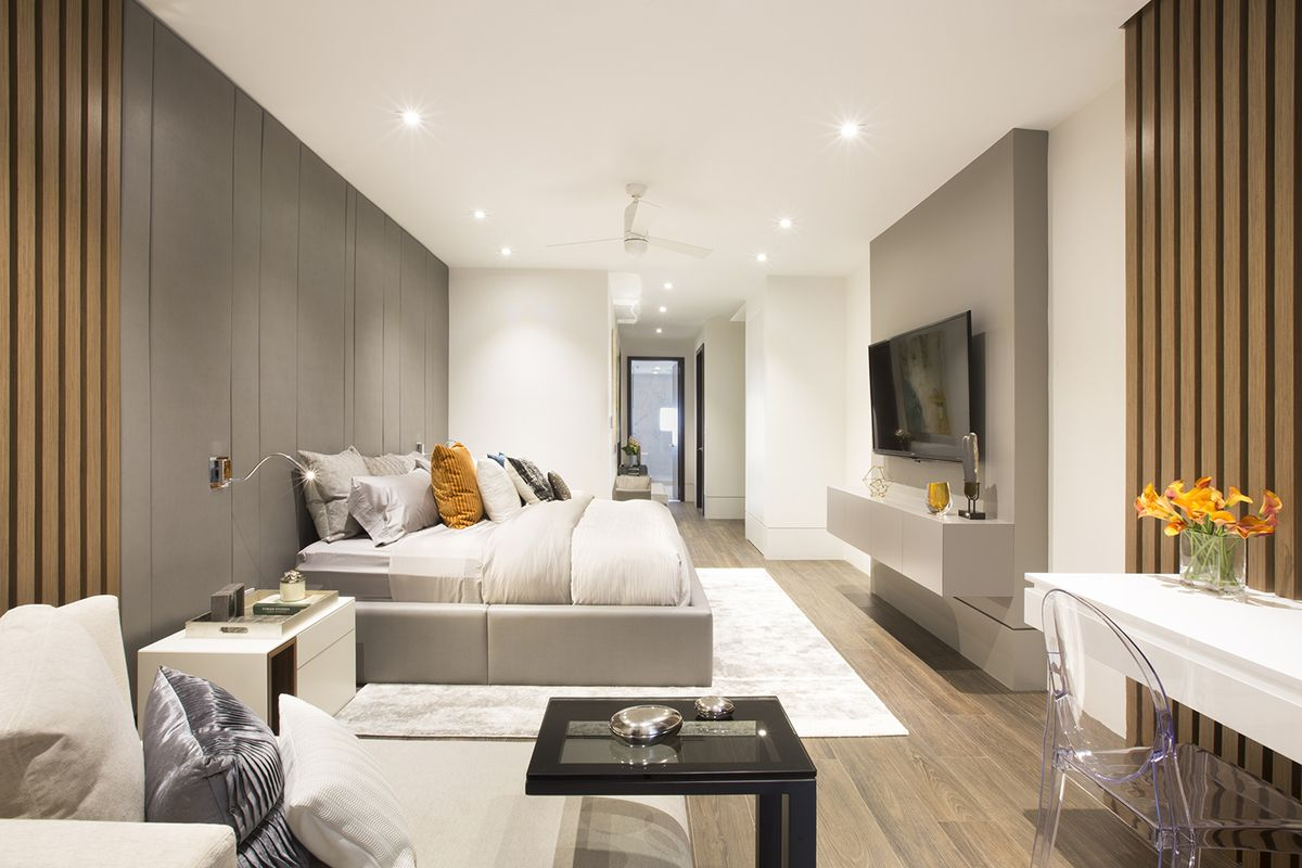 Master bedroom - Residential Interior Design Project in Aventura, Florida