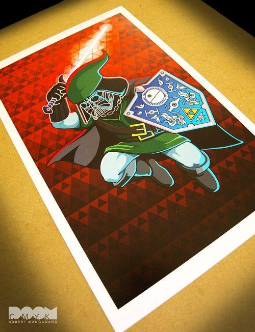Limited Edition Darth Link fan art mash up poster. $19.99, via Etsy.