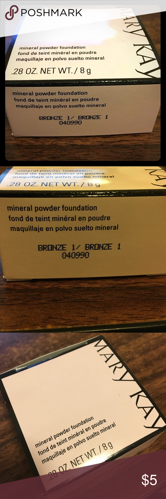 MARY KAY mineral powder foundation - bronze 1 Bronze 1 mineral powder foundation.  New. Unopened/unused.  Authenticity guaranteed! Mary Kay Makeup Foundation