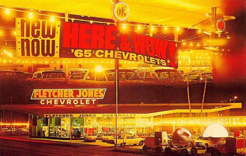 1965 Fletcher Jones Chevrolet Dealership Phoenix Arizona