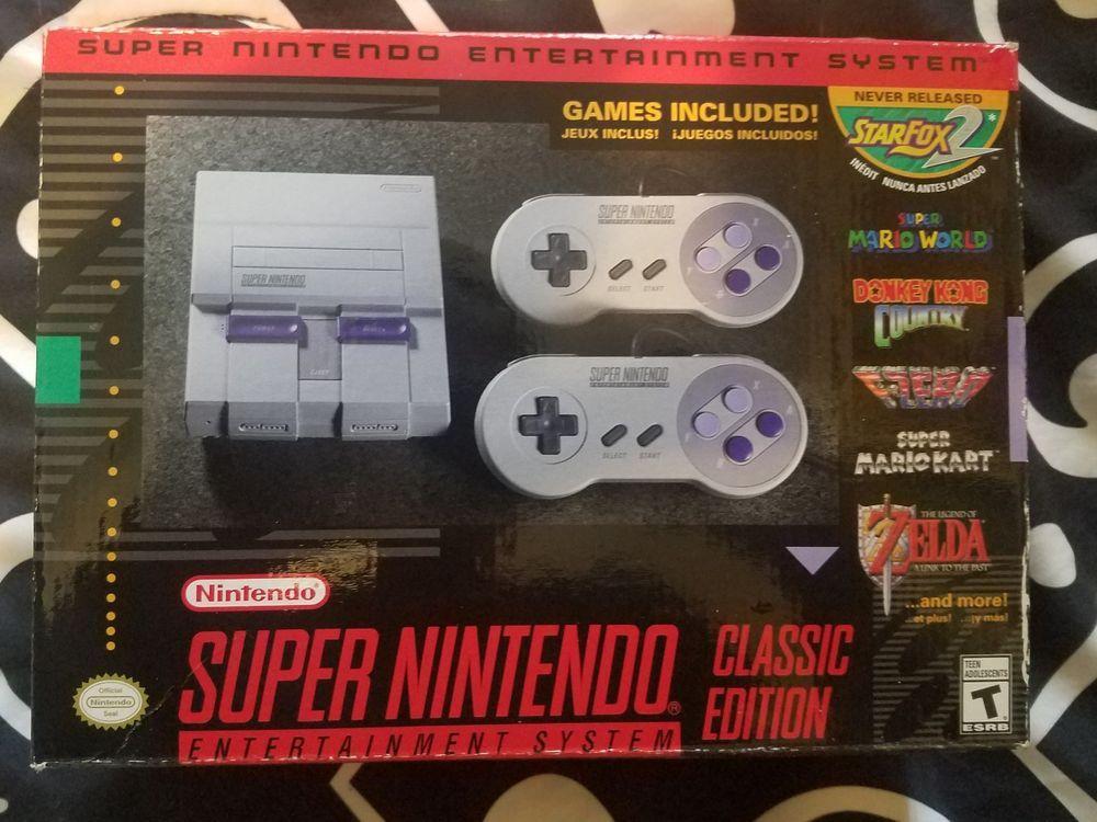 Super Nintendo Entertainment System Nes Snes Classic Mini Edition