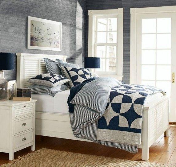 Camera da letto stile marina - Mobili in legno bianco | Bedrooms