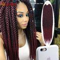 "New Stylish 3D Split Cubic Twist Crochet Braids 22"" 120G/Pack 12Root/Pack Havana Mambo Twist Crochet Braid Hair Senegalese Twist"