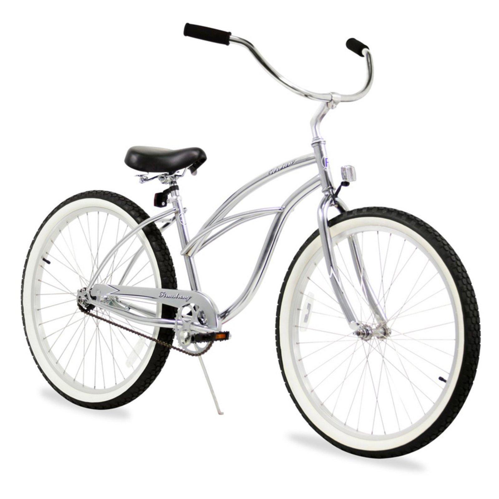 White Firmstrong Urban Lady Single Speed Women/'s 24 Inch Beach Cruiser Bike