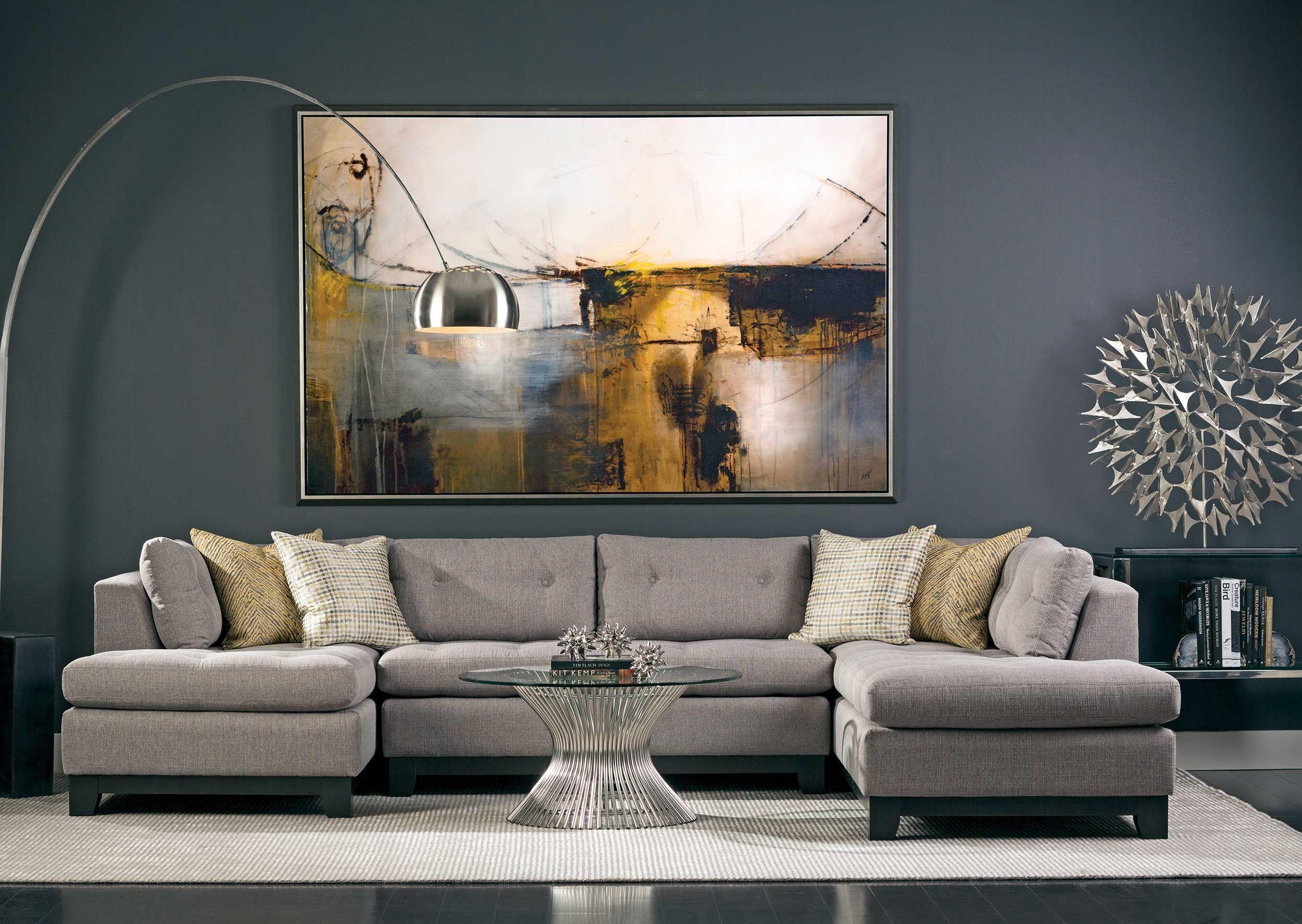 Chandler Sectional Durango Slate Living Room Grey Living Room