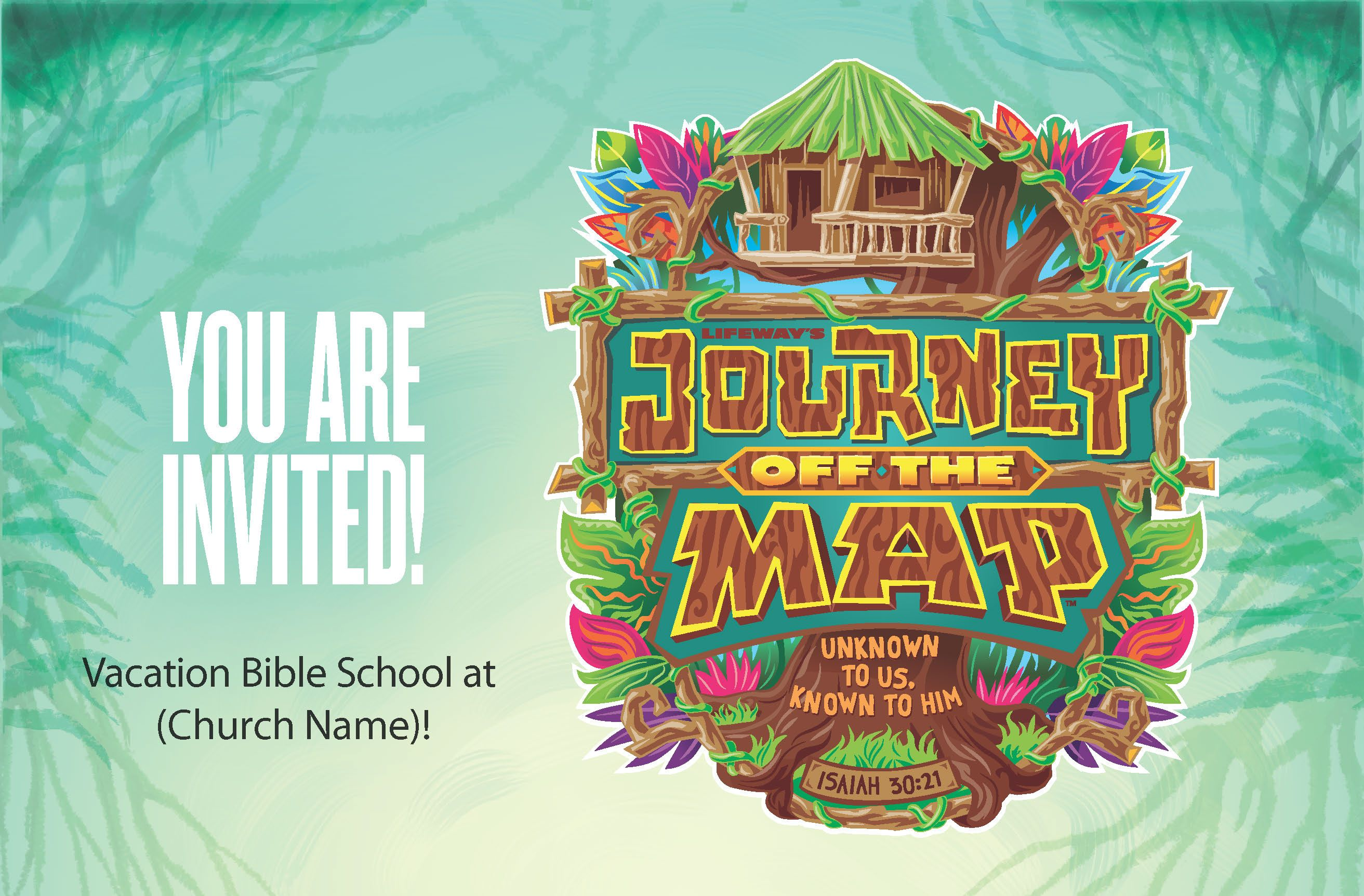 Journey Off The Map Vacation Bible School Theme