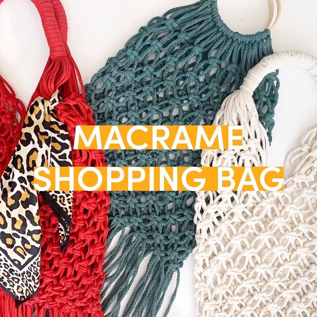 Photo of FREE DIY Macramé Market Bag tutorial