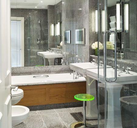 20 Bathrooms With Mirrors Above Bathtubs Bathroom Wall Decor Living Room Decor Modern Tile Furniture