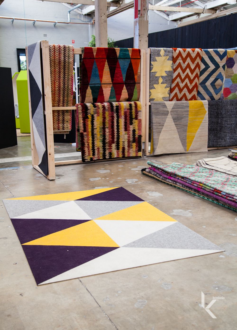 Rug Display Koskela Showroom Tretford Loom Rug