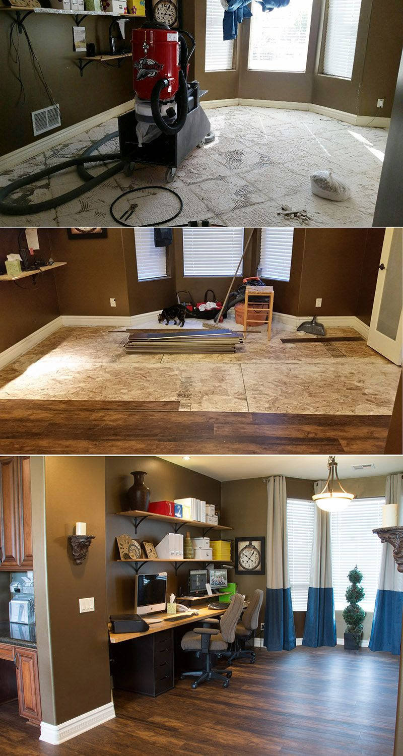 Installing Waterproof Flooring in the Kitchen and Office