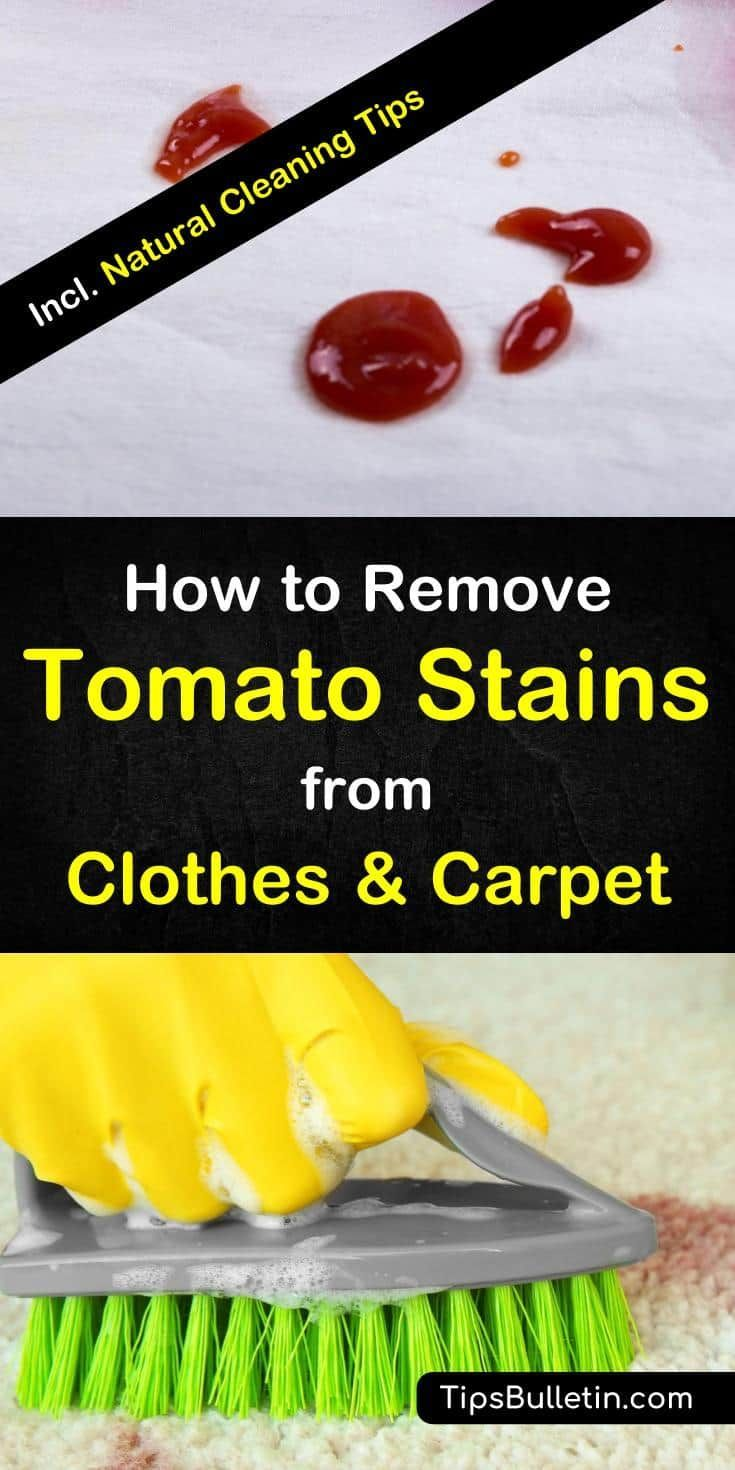 How To Remove Tomato Stains Cleaning Hacks Cleaning